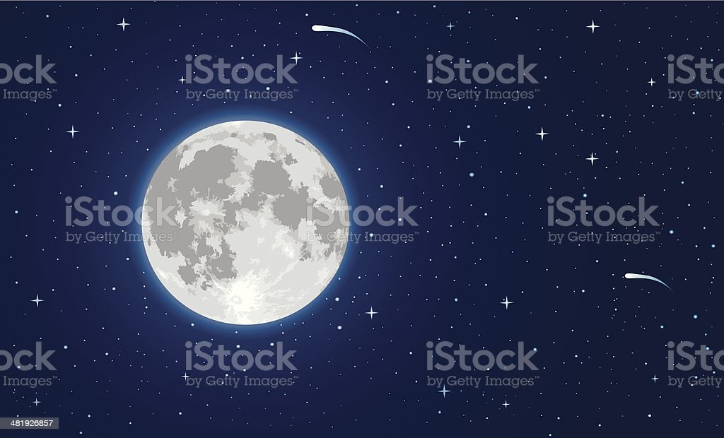 Moon vector art illustration