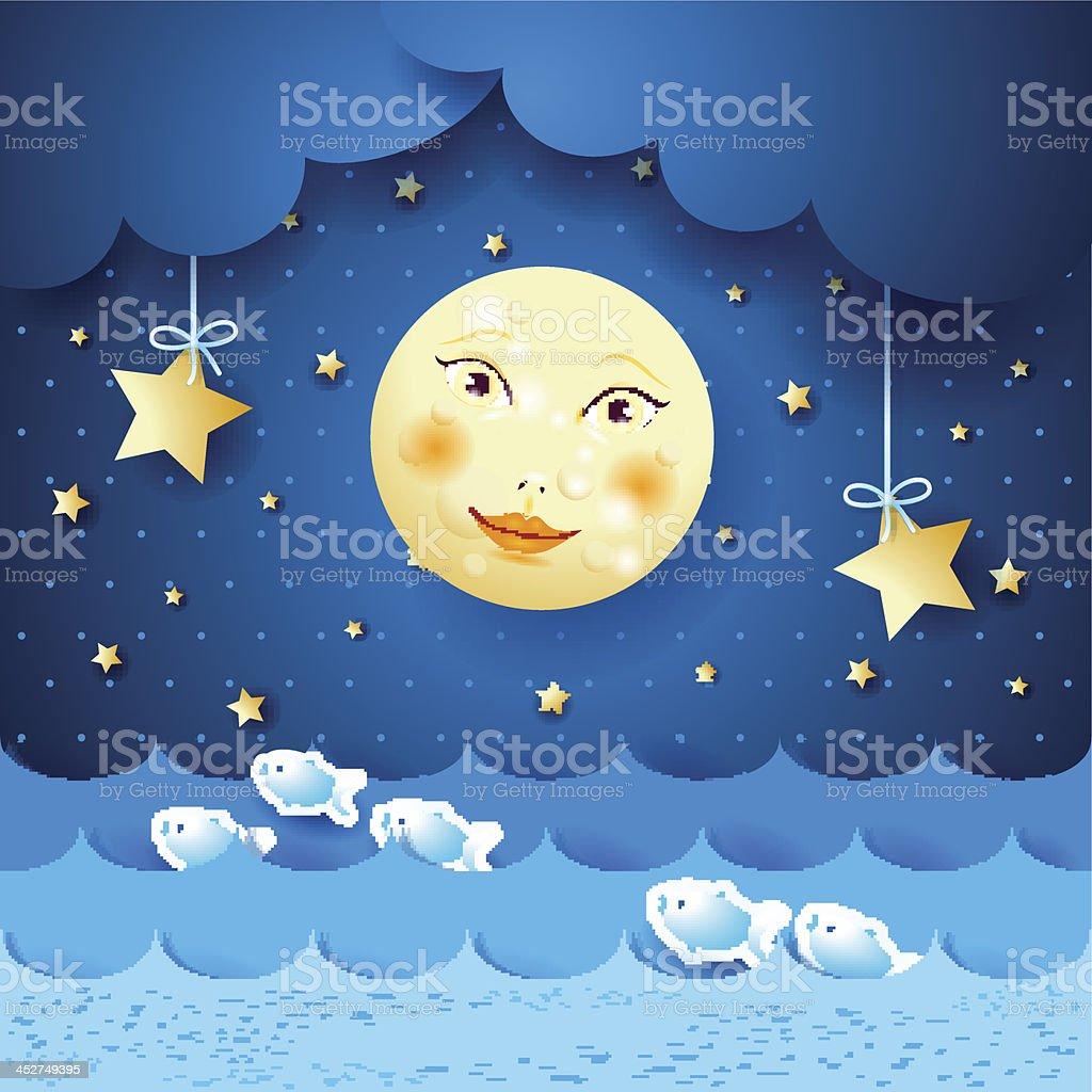 Moonlight royalty-free stock vector art