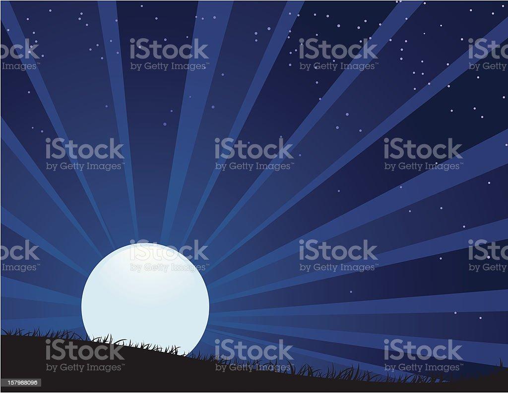 Moonrise vector art illustration