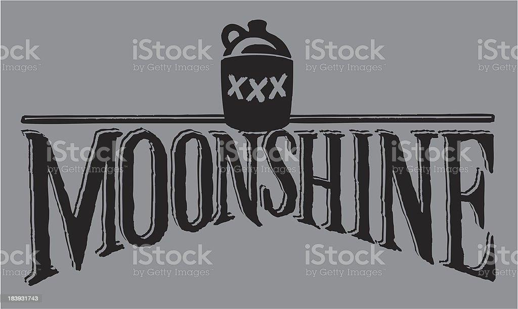 Moonshine - Jug and Type vector art illustration