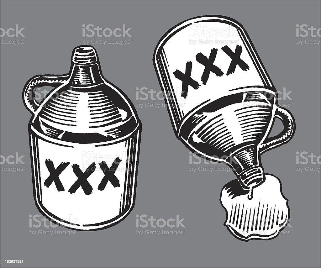 Moonshine Jugs vector art illustration