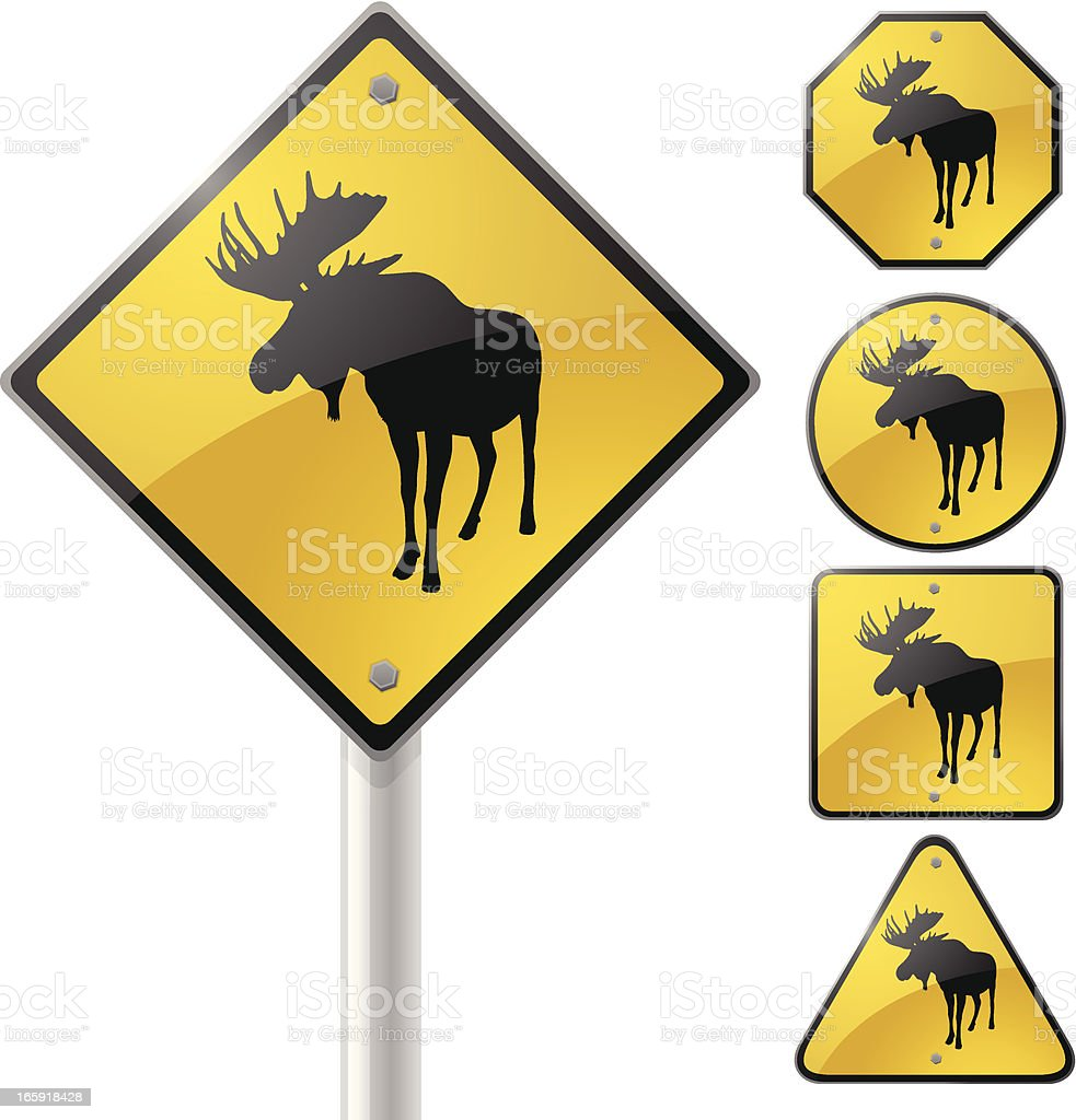 Moose Crossing royalty-free stock vector art