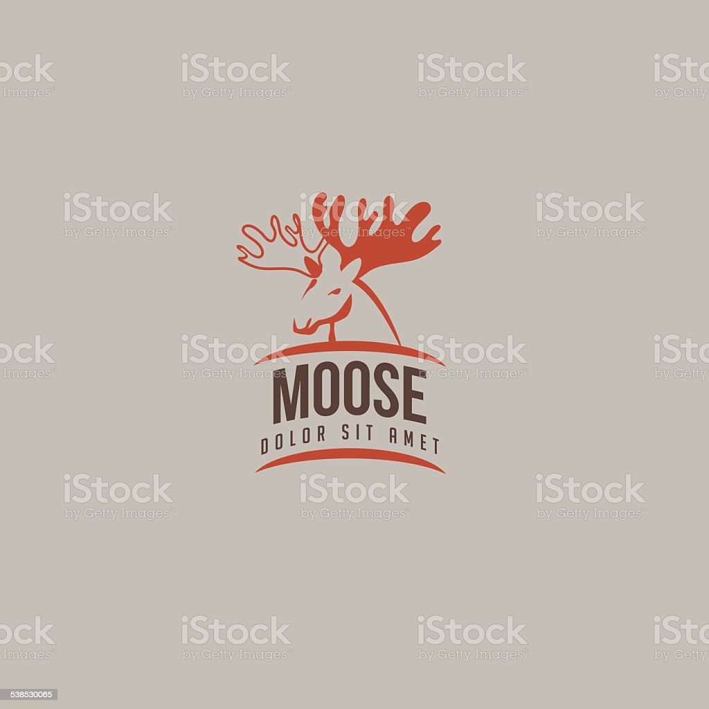 Moose icon vector art illustration