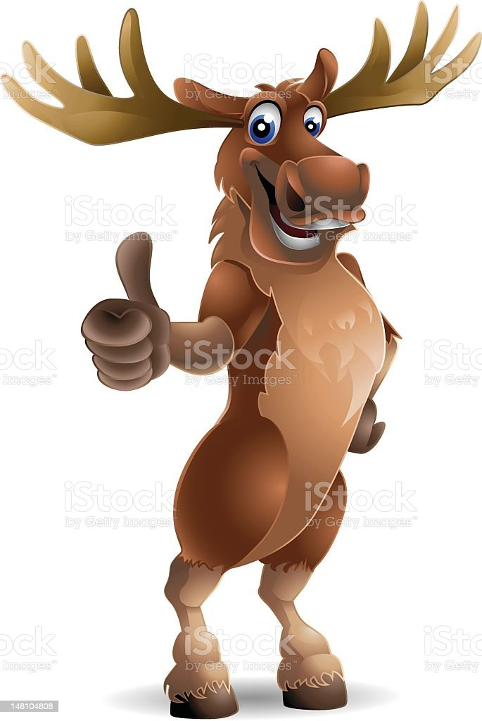 Moose: Thumbs up! royalty-free stock vector art