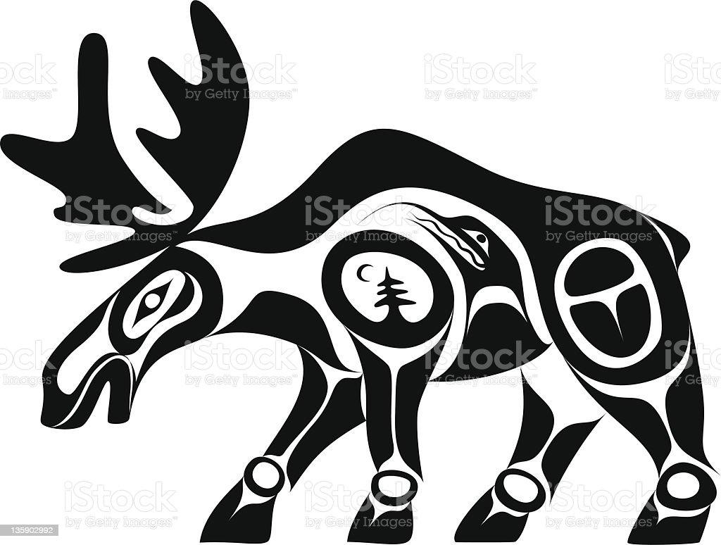 Moose vector art illustration