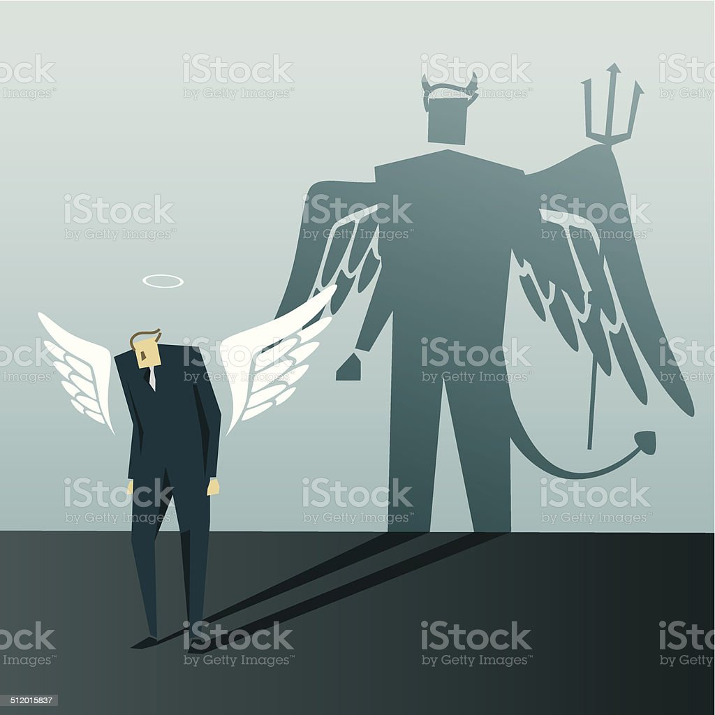 Moral Dilemma vector art illustration