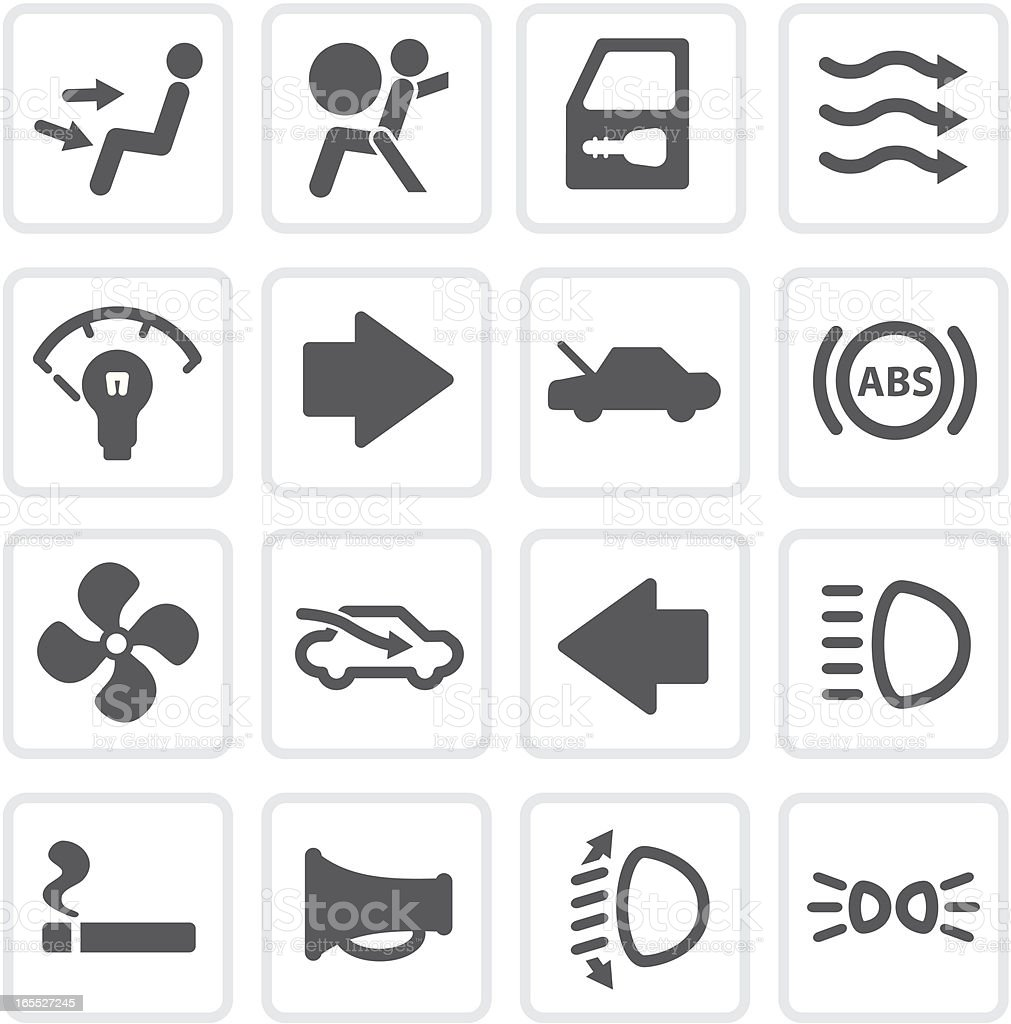 More Auto Controls | Raw Collection royalty-free stock vector art