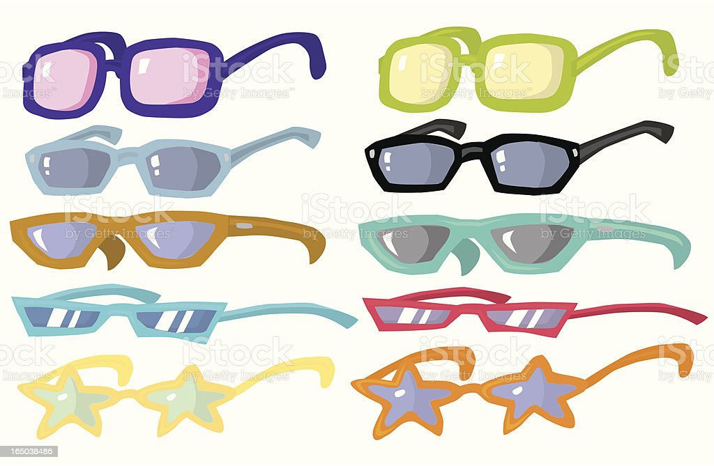 More Cheap Sunglasses royalty-free stock vector art