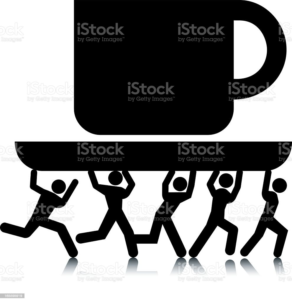 More Coffee royalty-free stock vector art