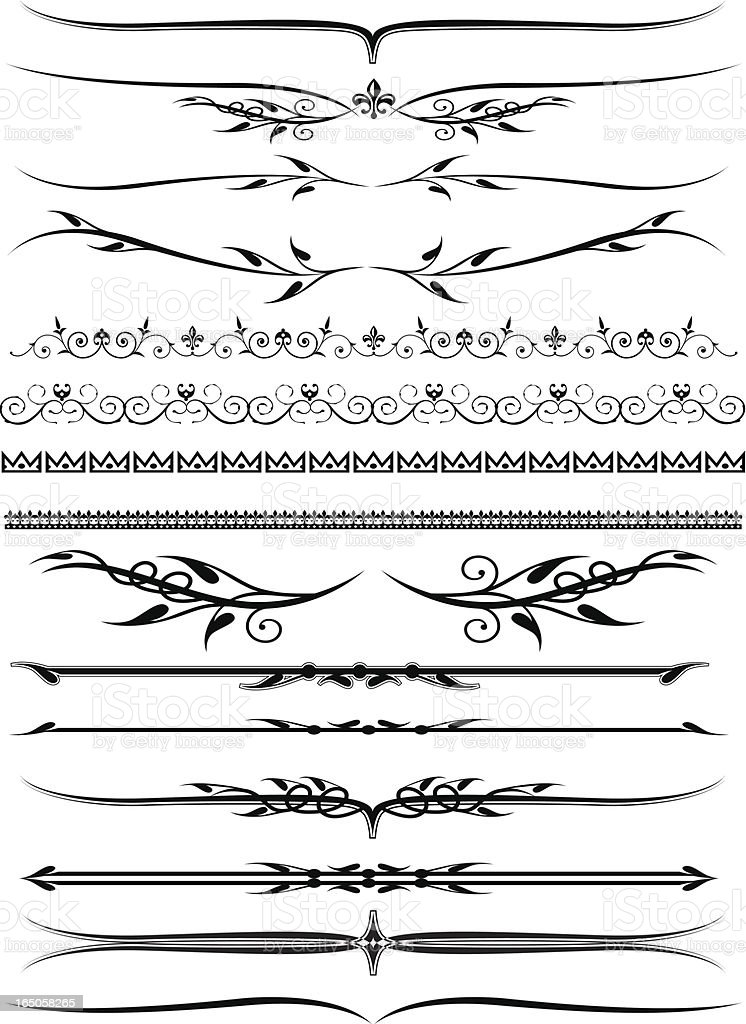 More decorative lines vector art illustration