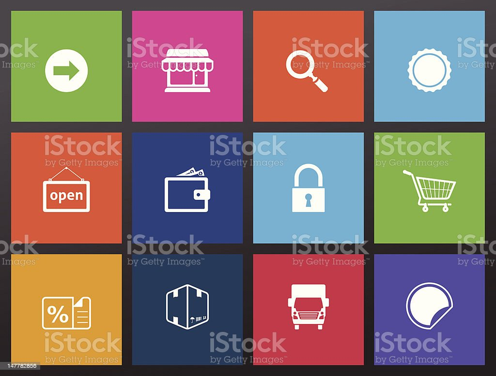 More Ecommerce Icons royalty-free stock vector art