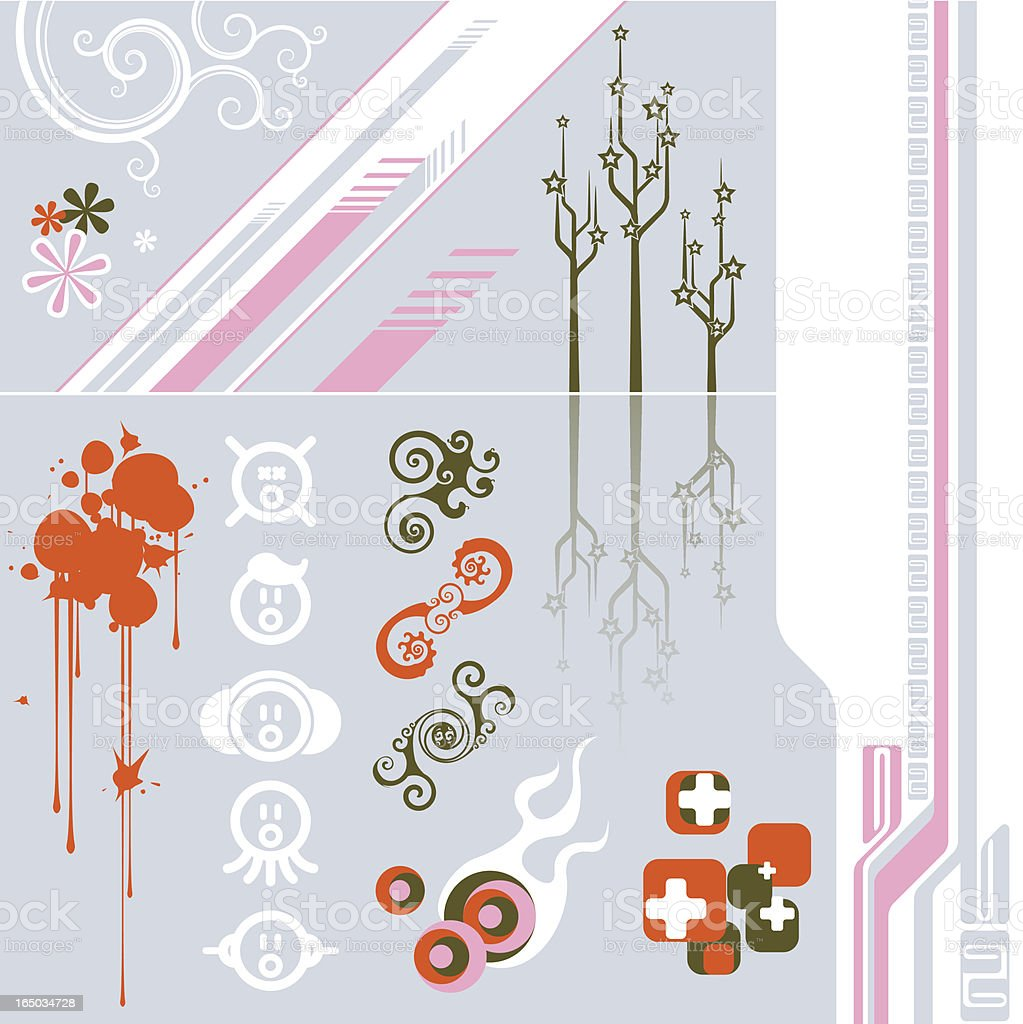 more elementz (design elements) royalty-free stock vector art