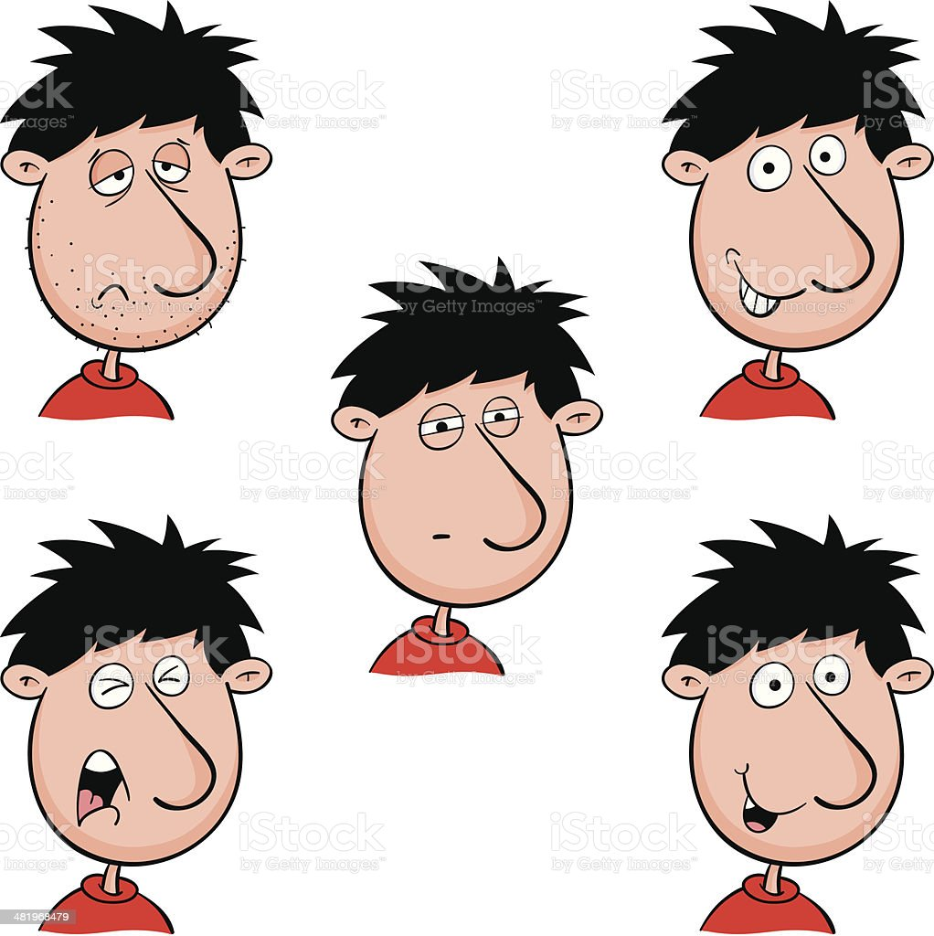 More face expressions royalty-free stock vector art
