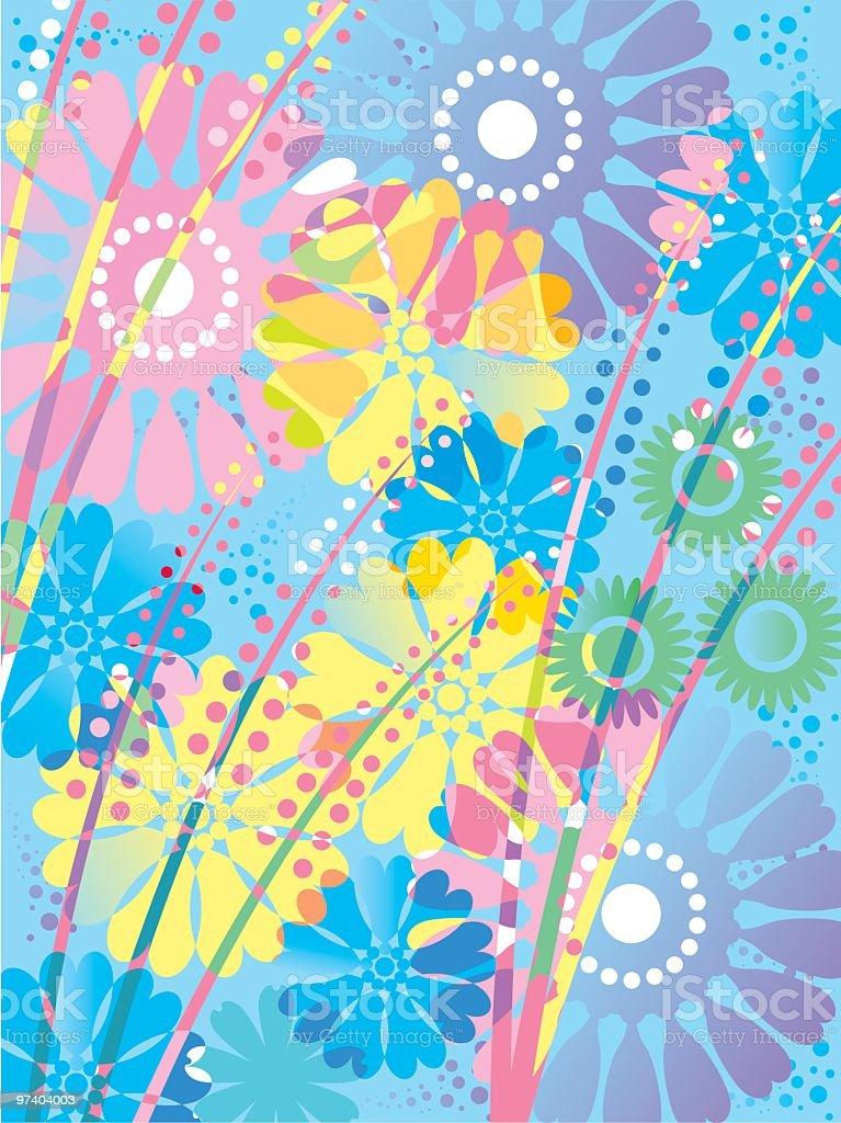 More flower power royalty-free stock vector art