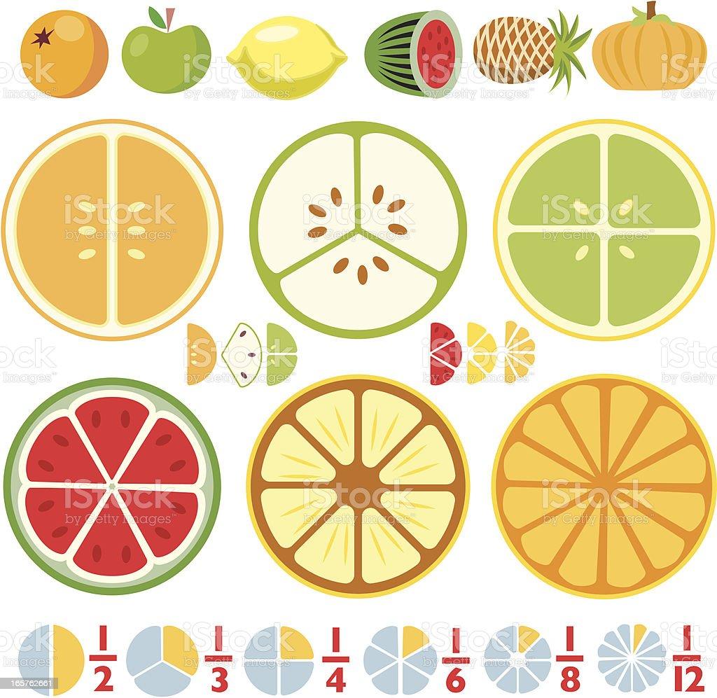 More Fraction Fruit royalty-free stock vector art