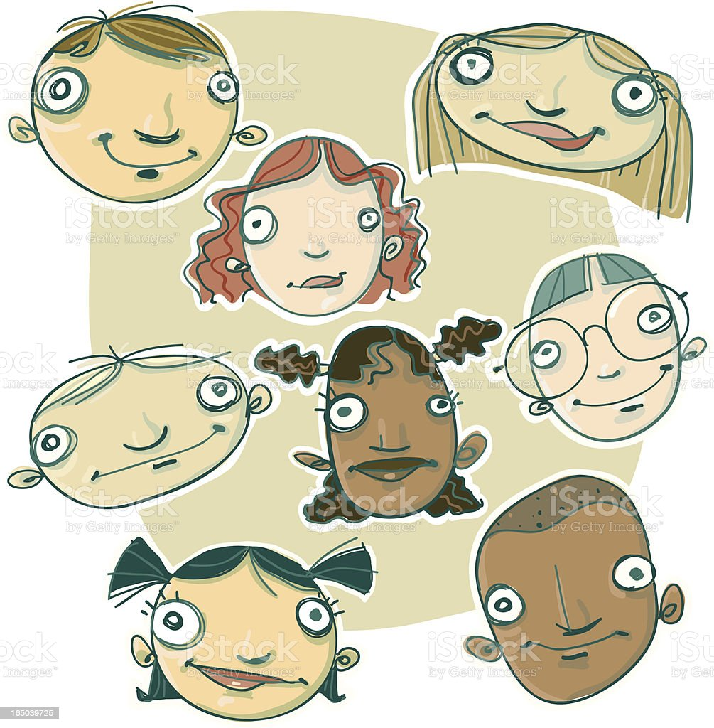 More heads royalty-free stock vector art