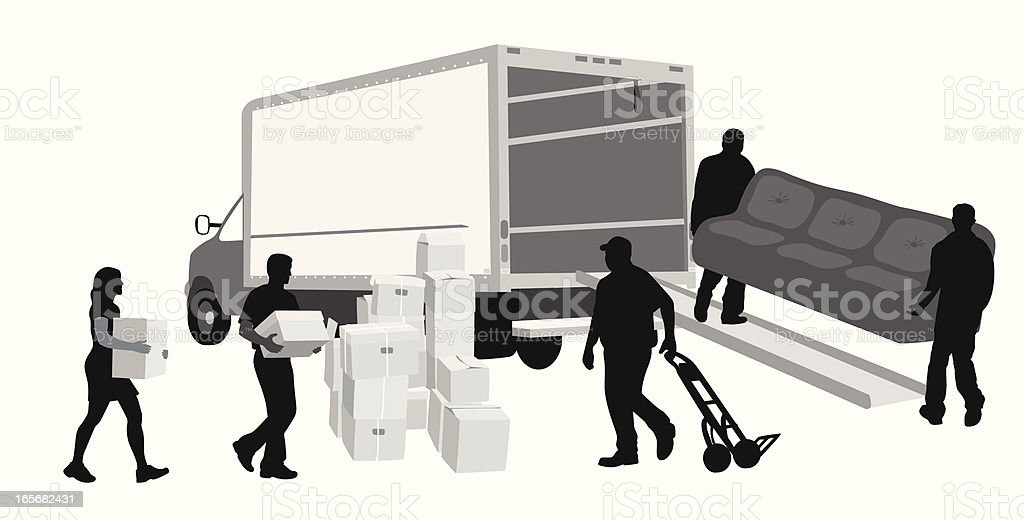 More Moving Vector Silhouette royalty-free stock vector art