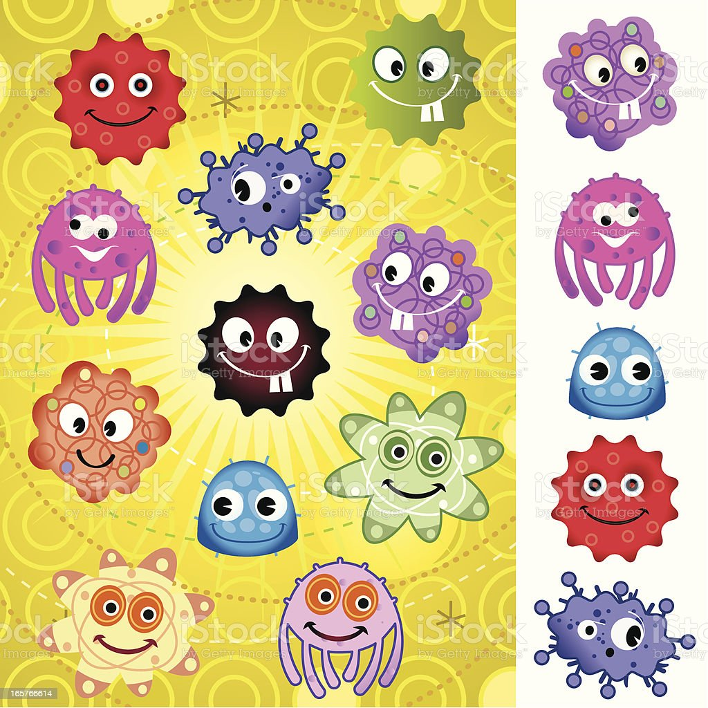 More Super cells and Bugs royalty-free stock vector art