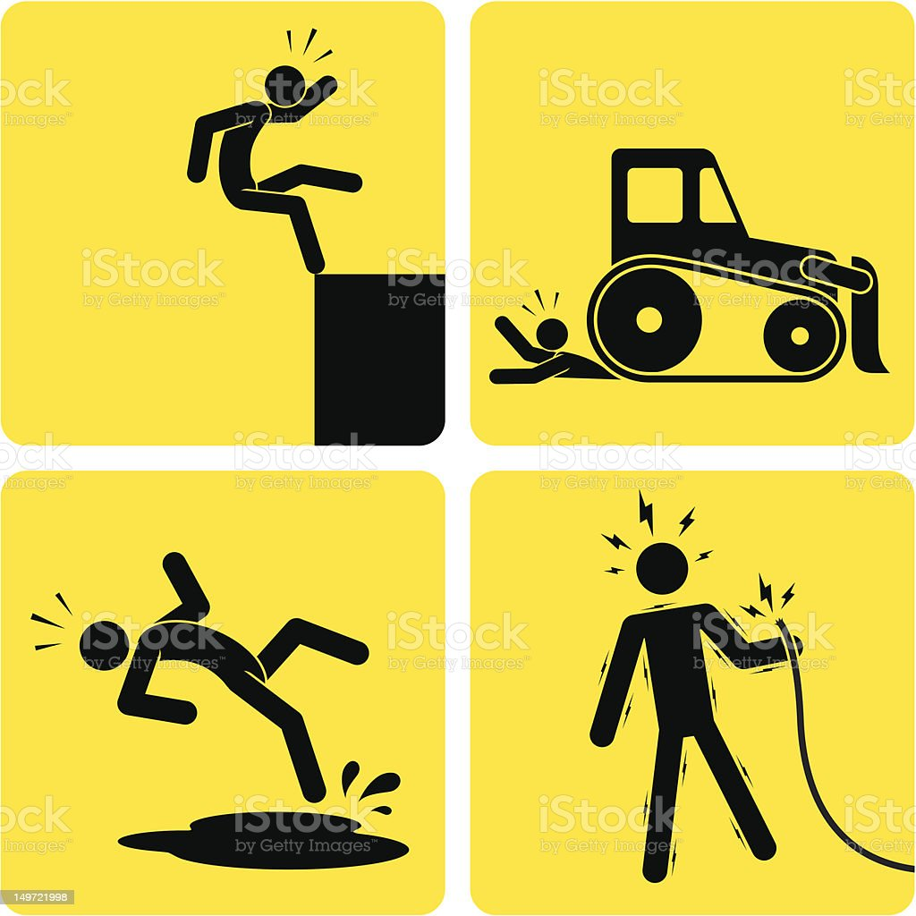 More Workplace Mishaps vector art illustration