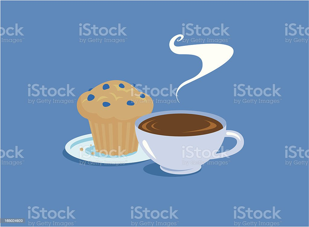 Morning Breakfast vector art illustration
