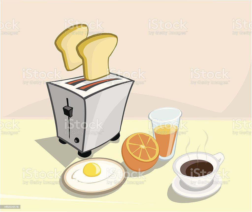 Morning breakfast royalty-free stock vector art
