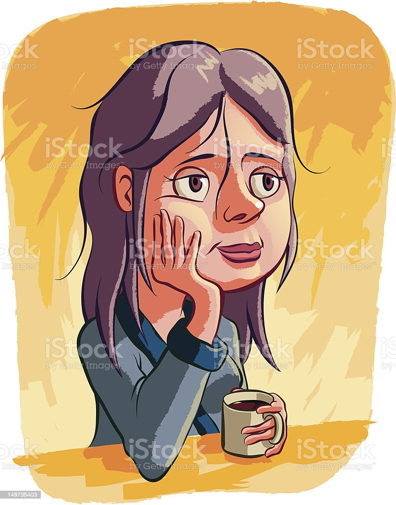Morning Coffee vector art illustration