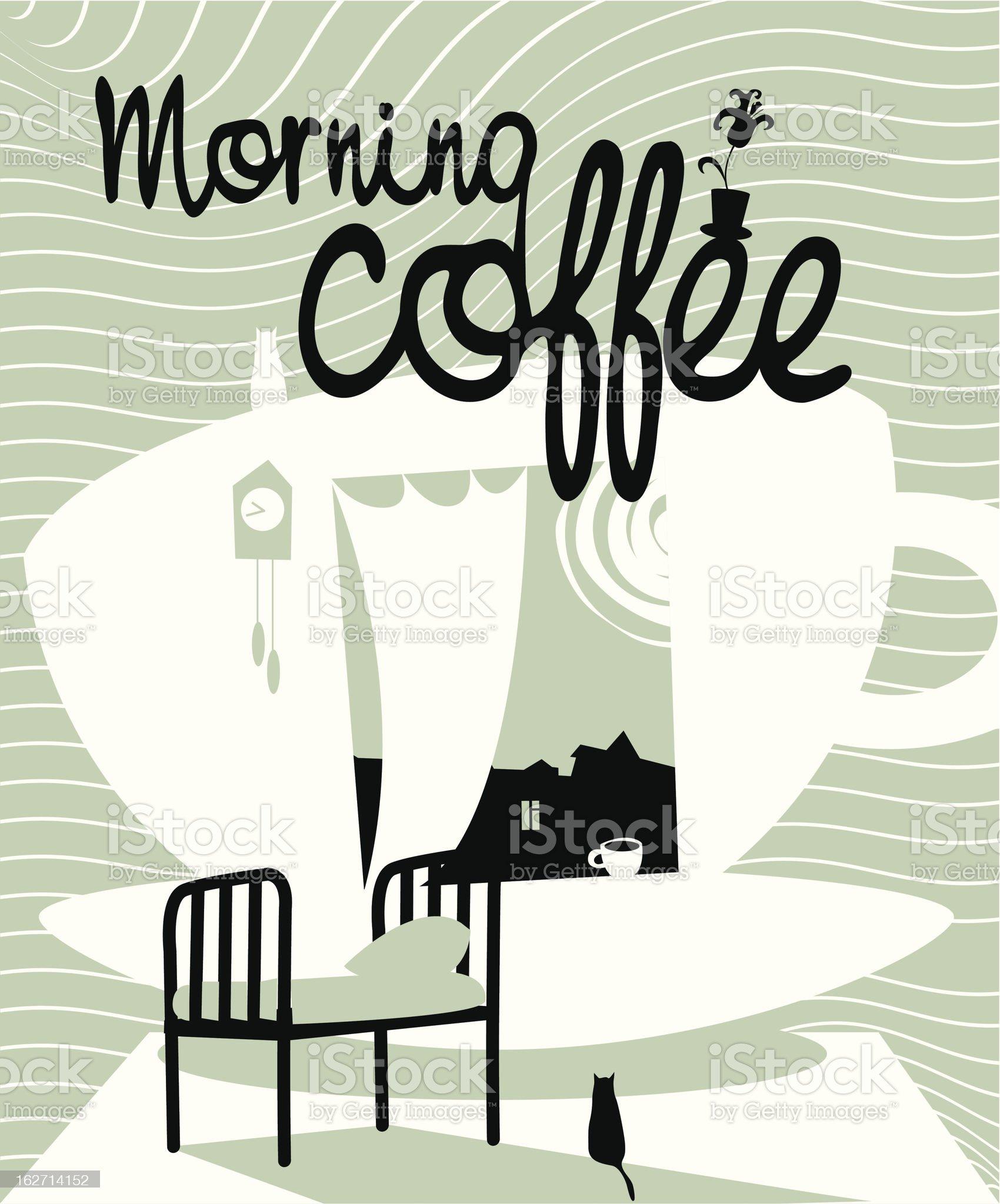 Morning Coffee royalty-free stock vector art