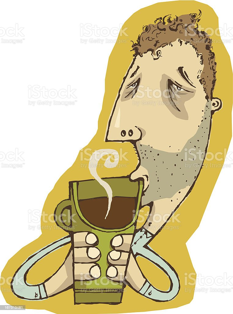 Morning Coffee royalty-free stock vector art