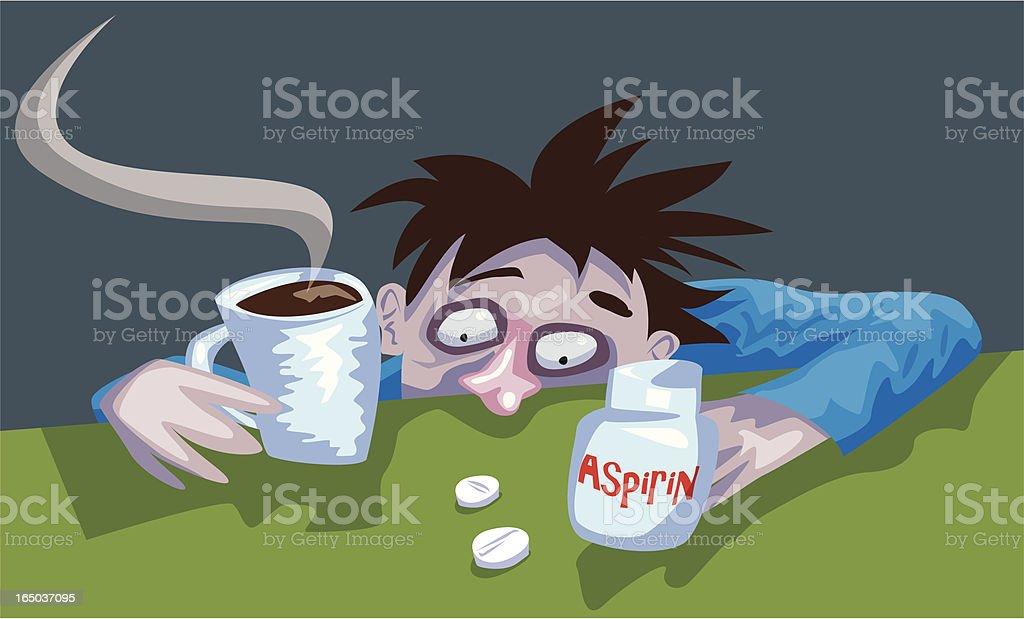 Morning Hangover (Vector) vector art illustration