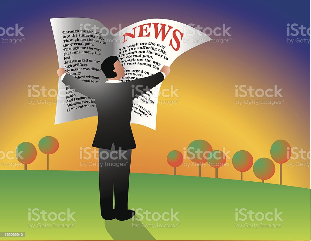 Morning News royalty-free stock vector art