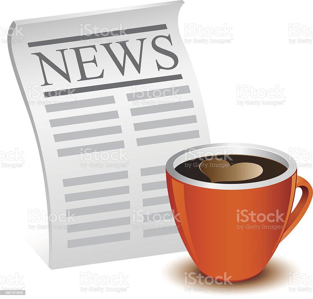 Morning news royalty-free stock vector art