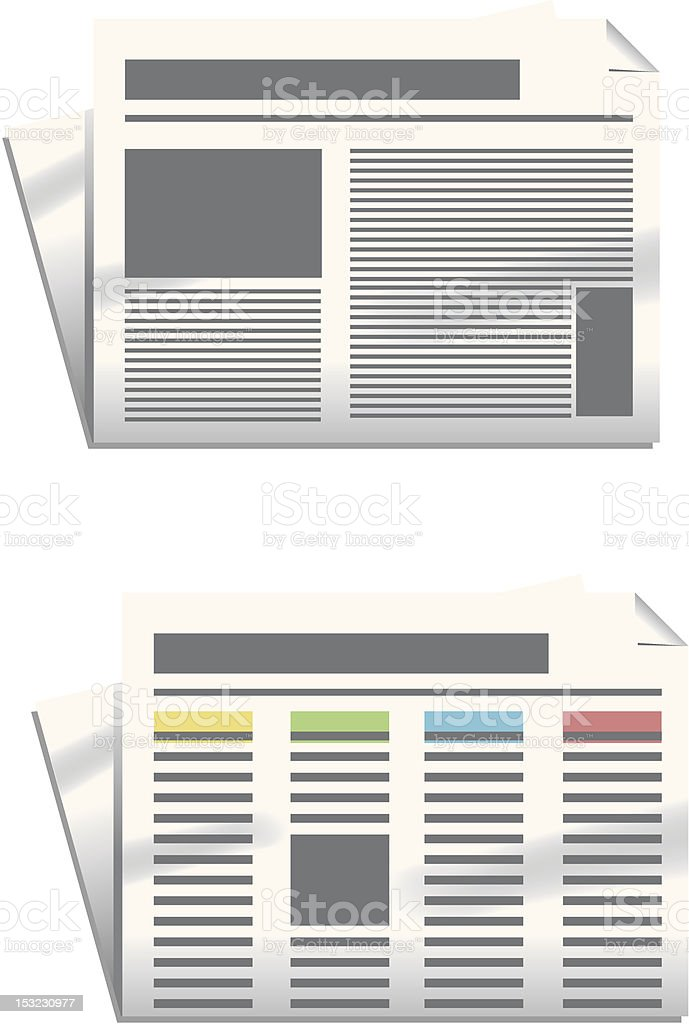Morning newspaper royalty-free stock vector art
