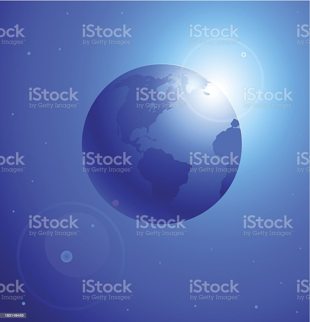 Morning on a planet royalty-free stock vector art