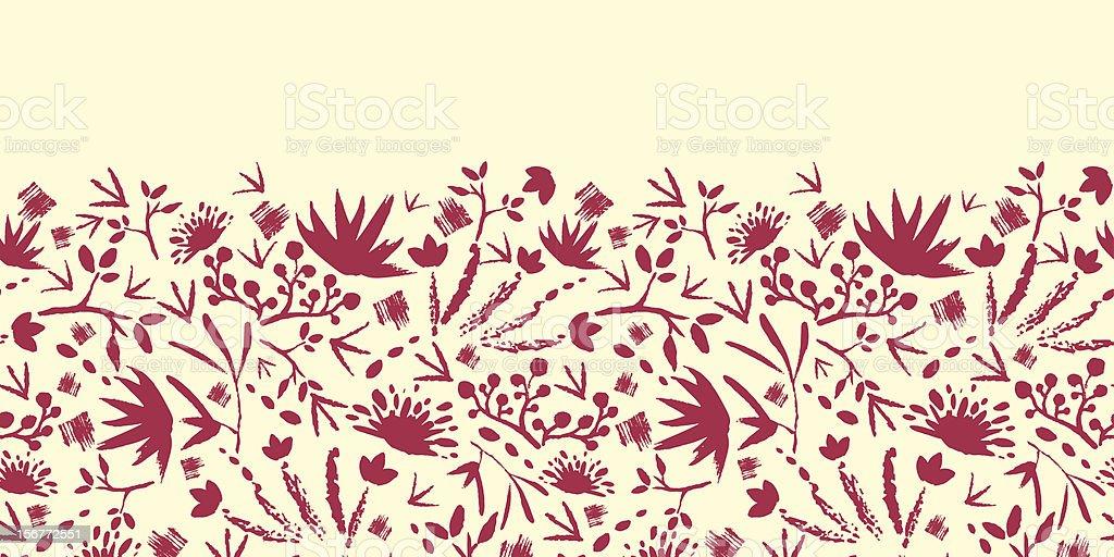Morning Shadows Painted Horizontal Seamless Pattern Ornament royalty-free stock vector art
