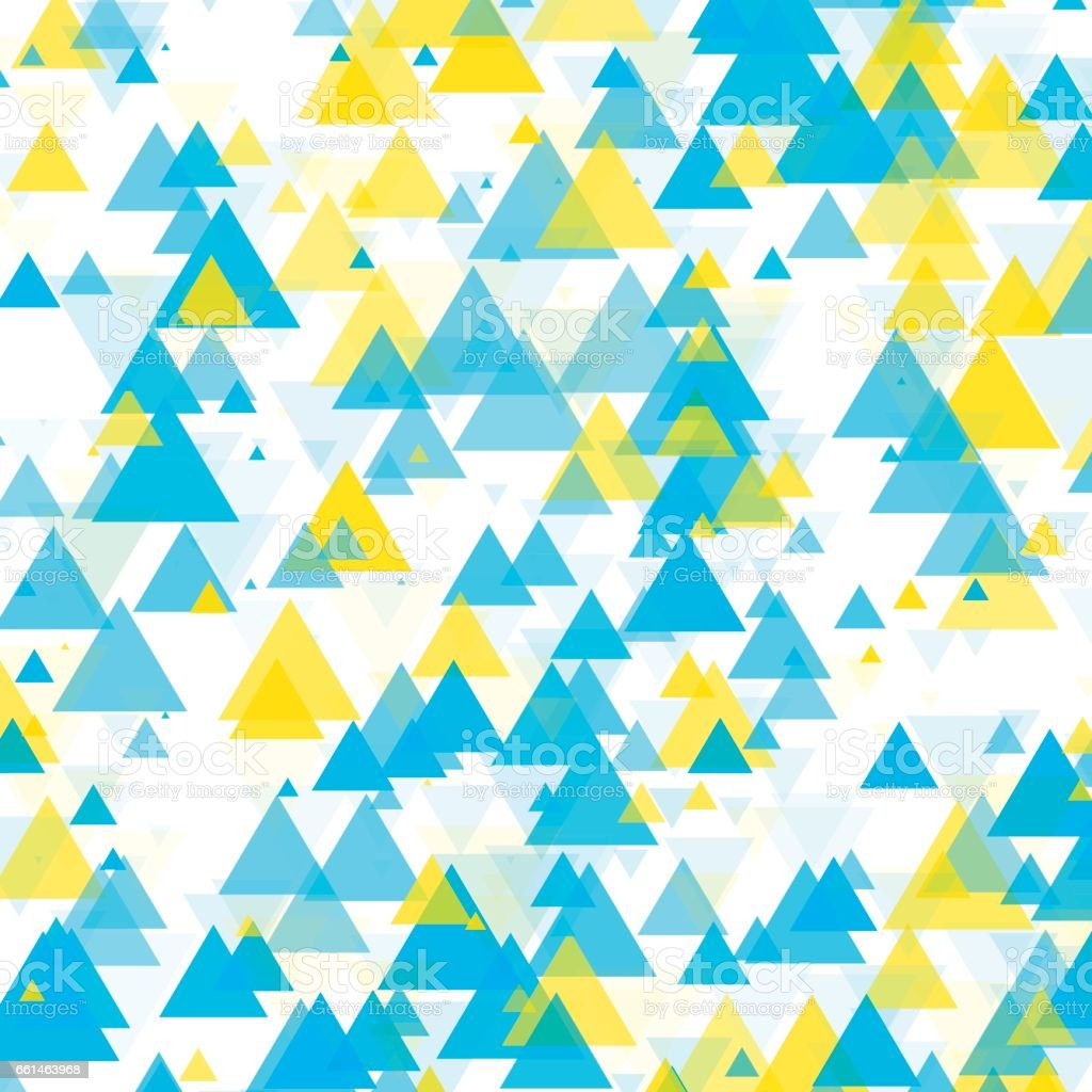 Morning Triangle Geometric Graphic Pattern vector art illustration