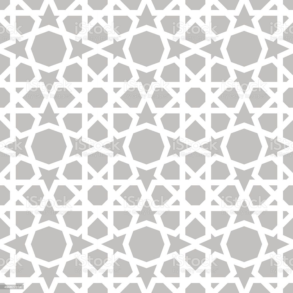 Moroccan pattern. Eastern traditional style vector art illustration