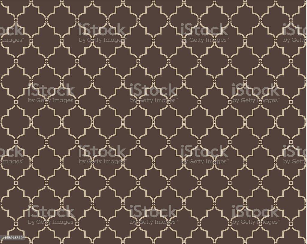 Moroccan Trellis Pattern vector art illustration