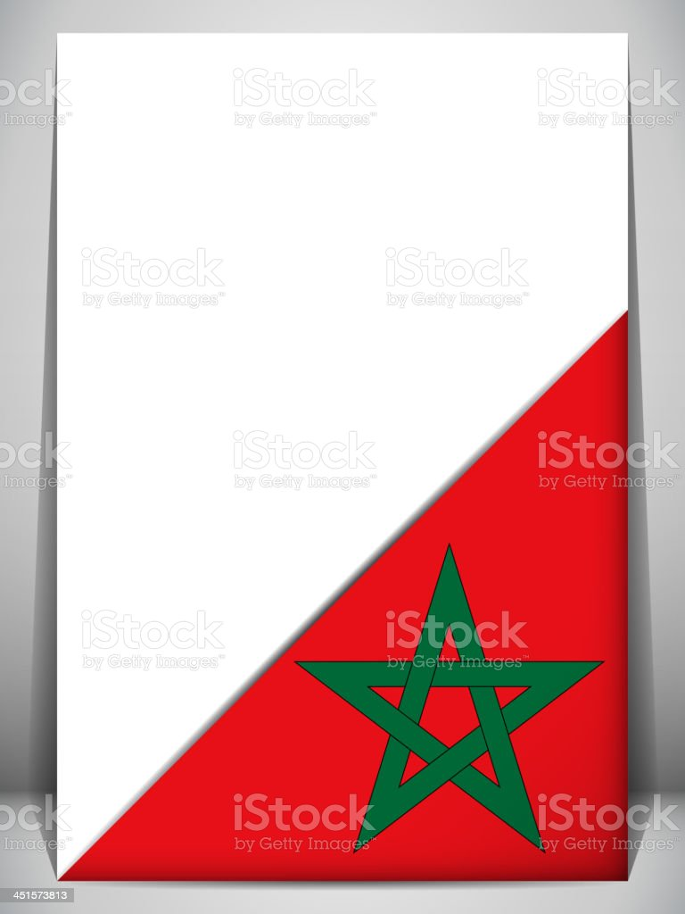 Morocco Country Flag Turning Page royalty-free stock vector art