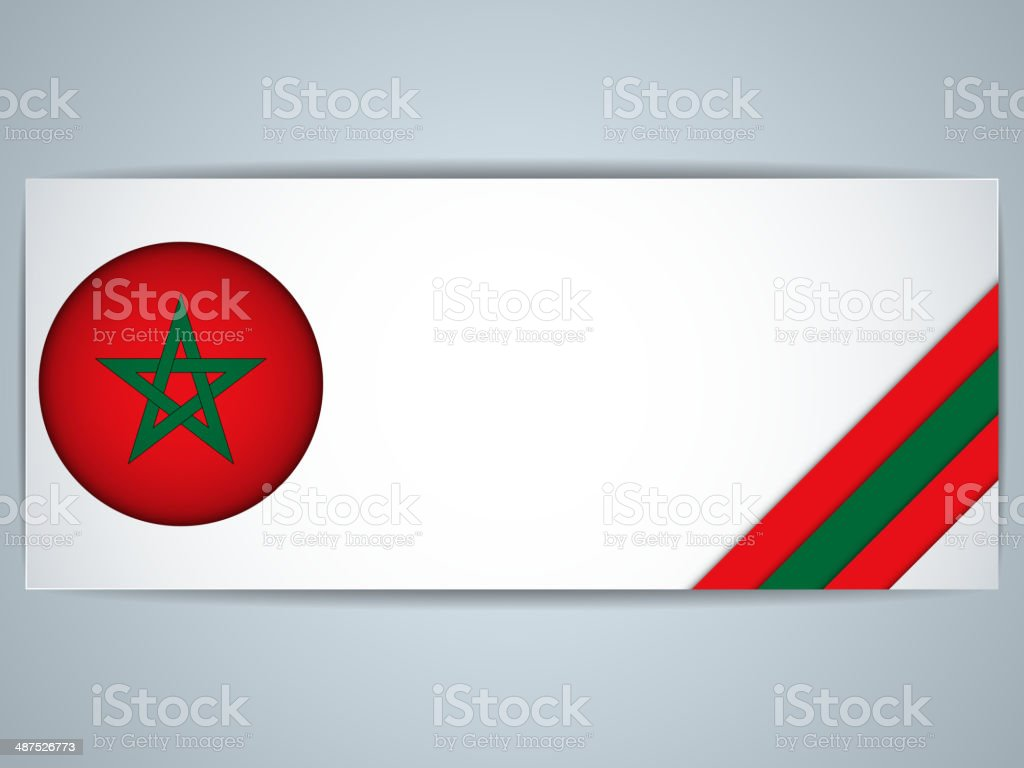 Morocco Country Set of Banners vector art illustration