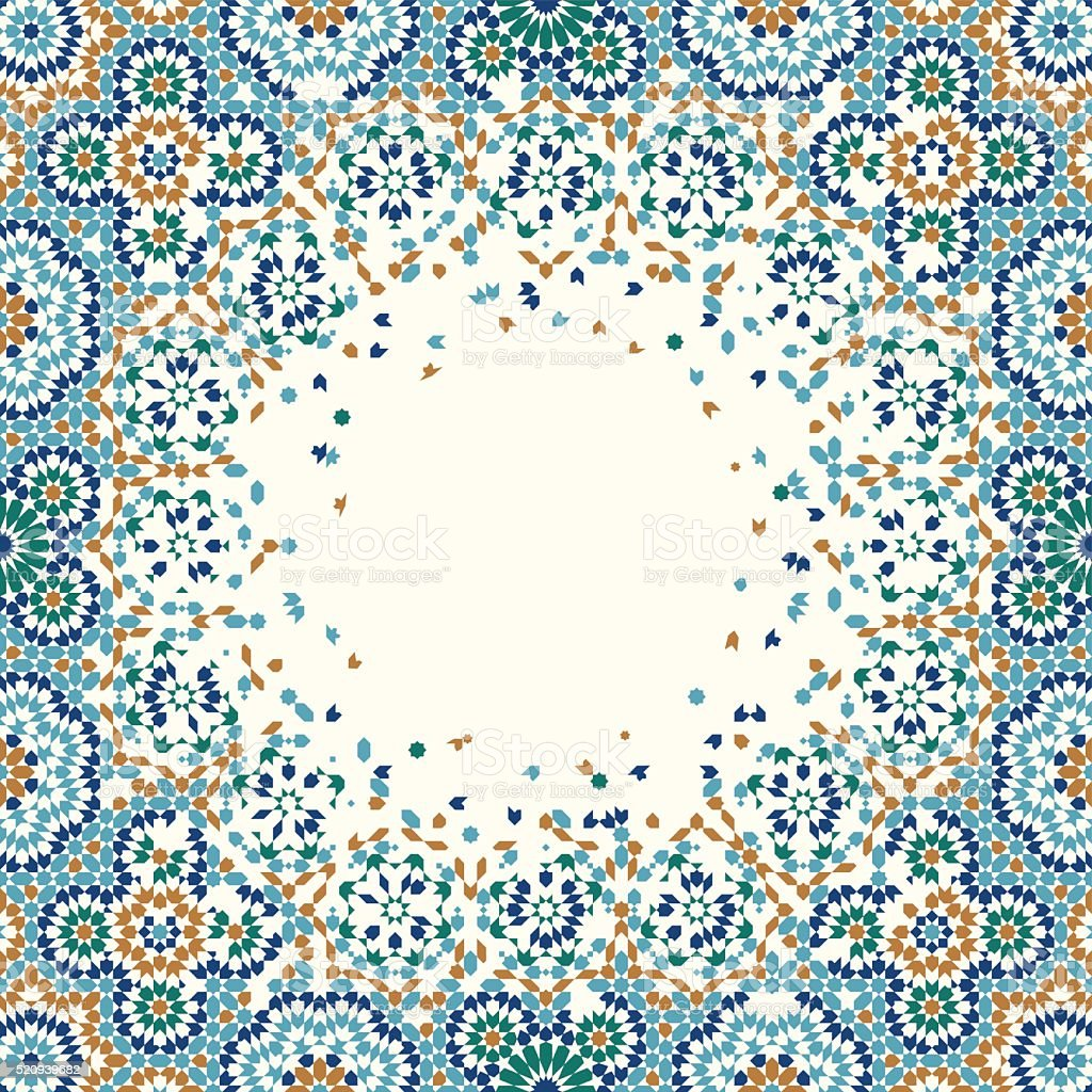 Morocco Disintegration Background vector art illustration