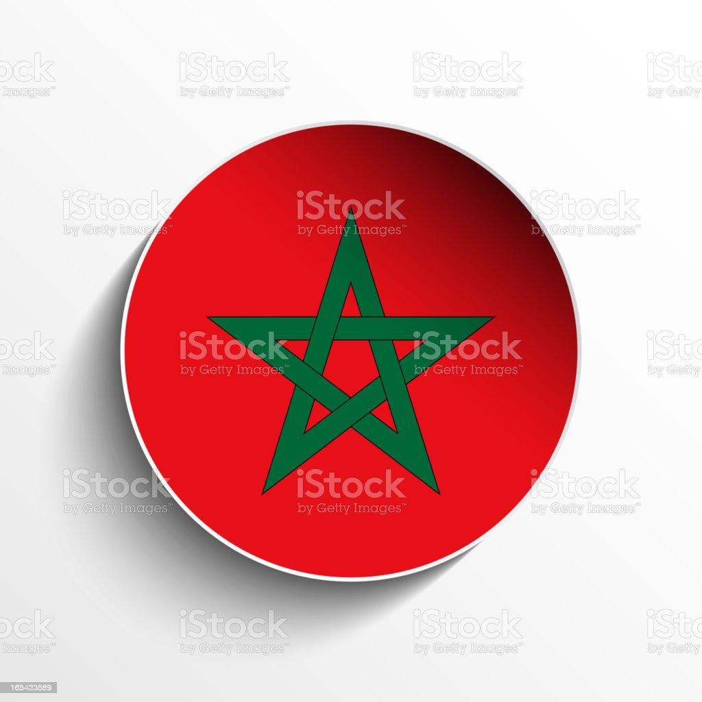 Morocco Flag Sticker Button royalty-free stock vector art