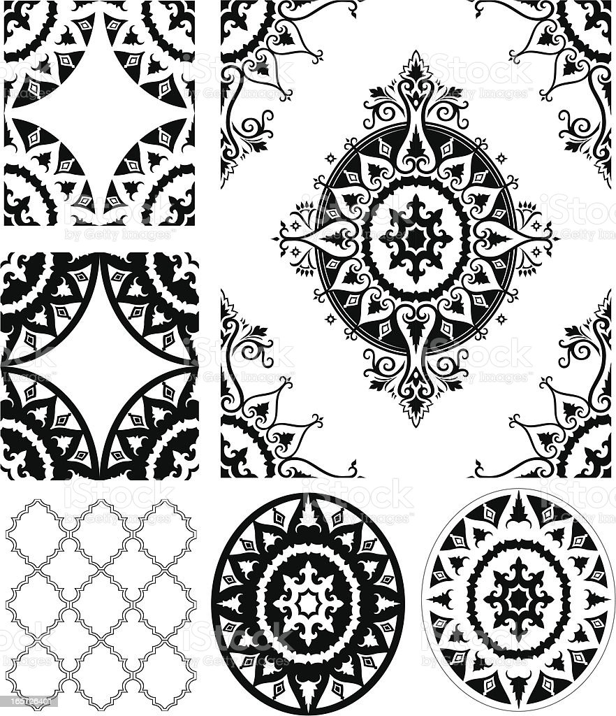 Morrocan Elements Set royalty-free stock vector art