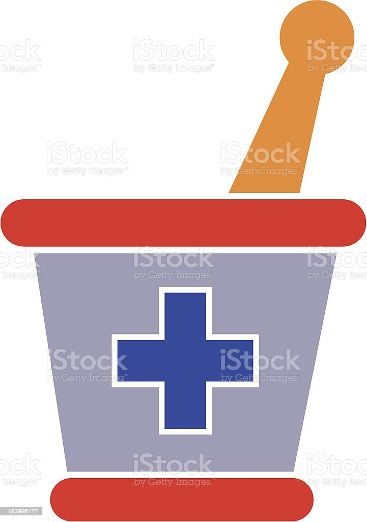 mortar and pestle royalty-free stock vector art