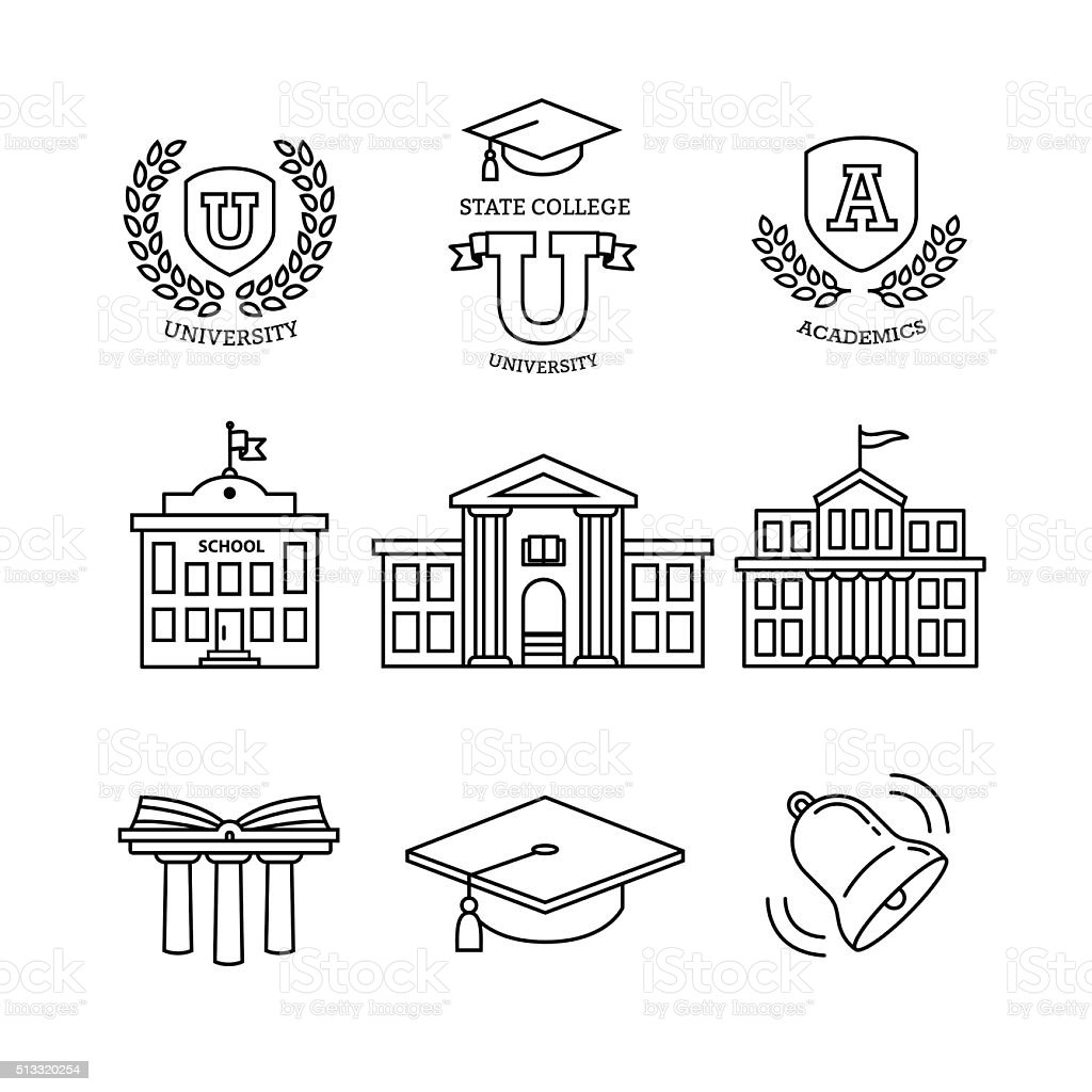 Mortar board, education, school and university vector art illustration