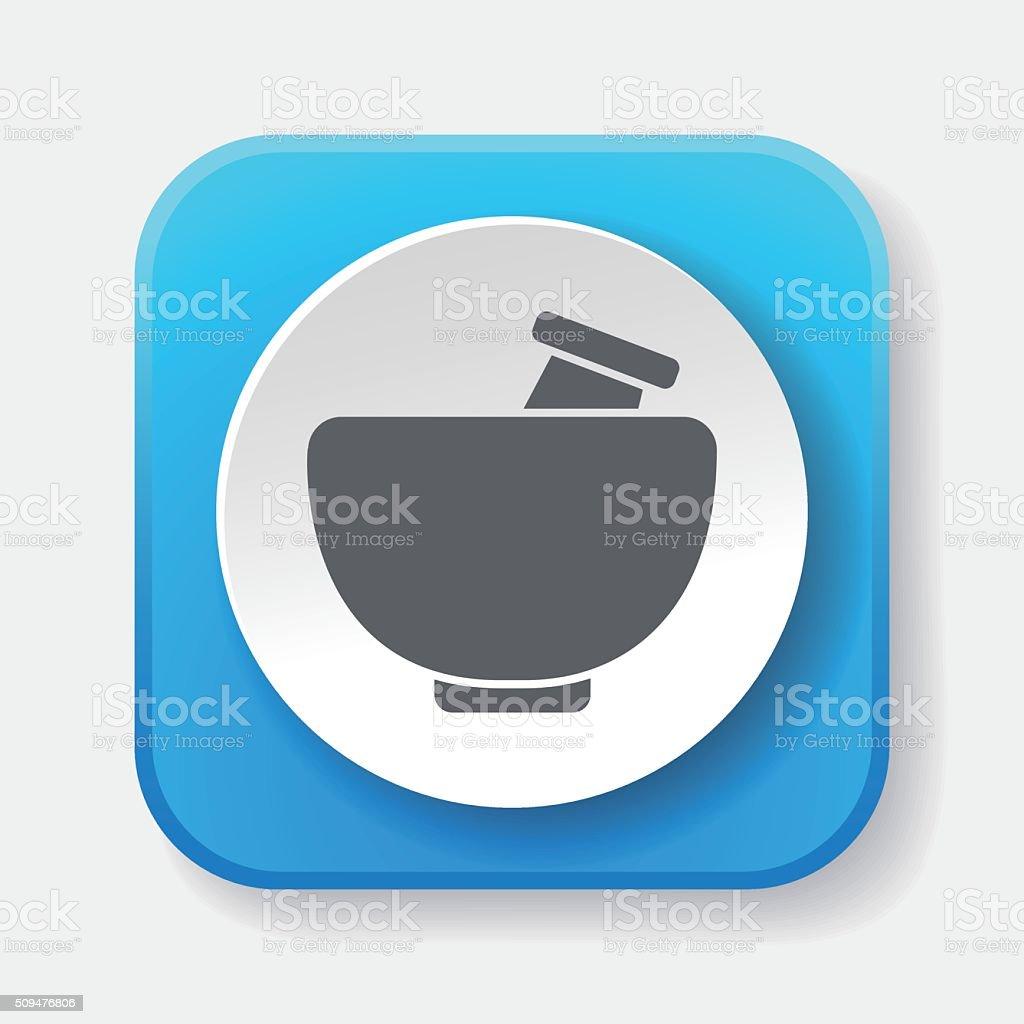 mortar icon vector art illustration