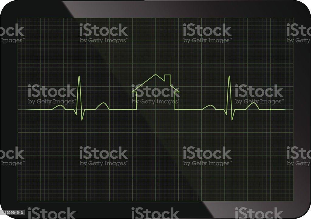 Mortgage ECG royalty-free stock vector art