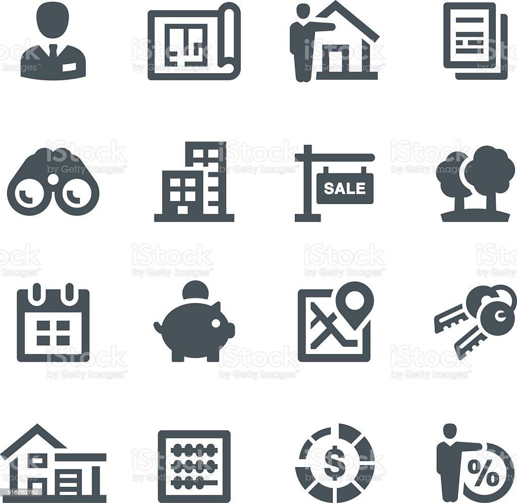 Mortgage Icons vector art illustration
