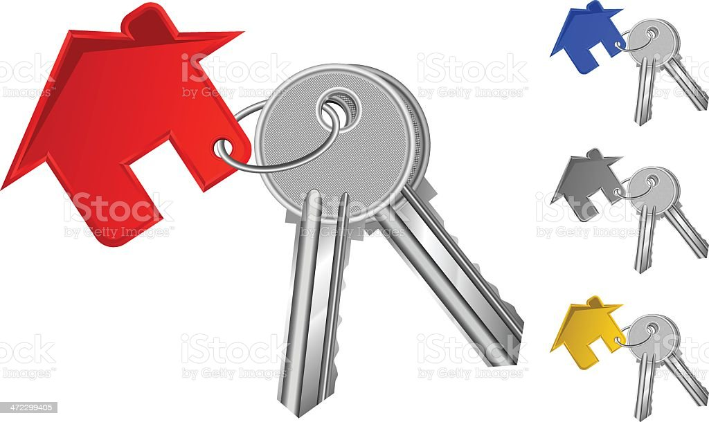 Mortgage Keychain royalty-free stock vector art
