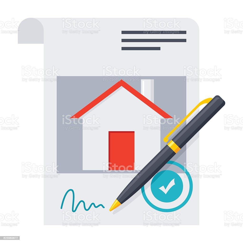 Mortgage loan Concept vector art illustration