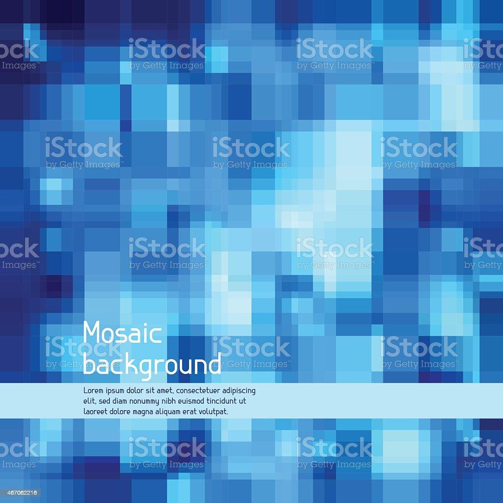 Mosaic abstract high-tech background vector art illustration